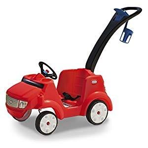 בימבה מכונית ספורט אדומה עם ידית